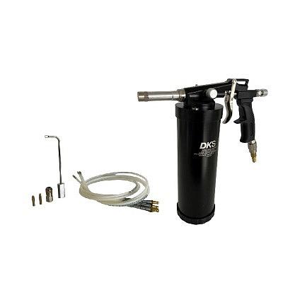 Druckbecherpistole schwarz mit div. Zubehör